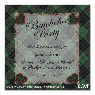 Gunn Scottish clan tartan - Plaid Invitations