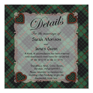 Gunn Scottish clan tartan - Plaid Invitation