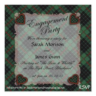 Gunn Scottish clan tartan - Plaid Personalized Announcement