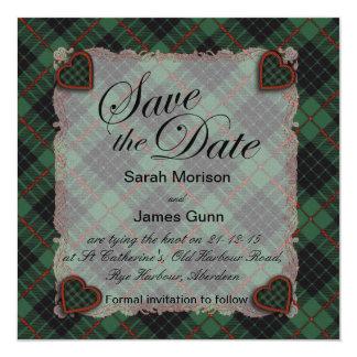 Gunn Scottish clan tartan - Plaid Custom Invitations