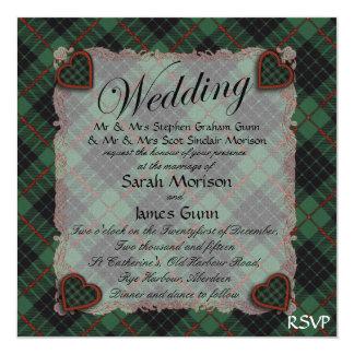 Gunn Scottish clan tartan - Plaid Custom Invites