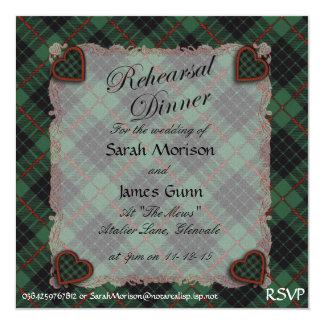 Gunn Scottish clan tartan - Plaid Personalized Invites