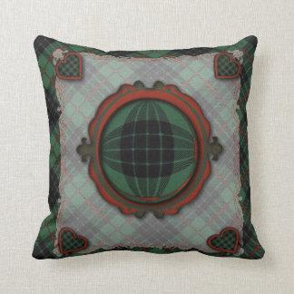 Gunn Scottish clan tartan - Plaid Throw Pillows