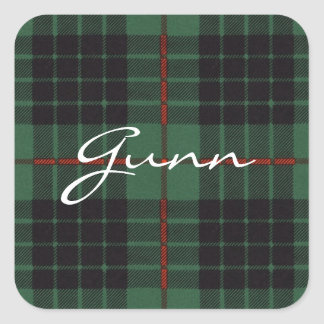 Gunn Scottish Tartan Square Sticker