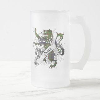 Gunn Tartan Lion Frosted Glass Beer Mug