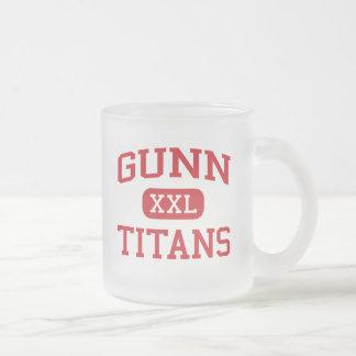 Gunn - Titans - High School - Palo Alto California 10 Oz Frosted Glass Coffee Mug