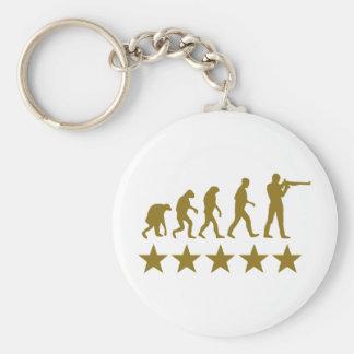gunner evolution 5 stars basic round button keychain