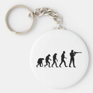 gunner evolution basic round button keychain