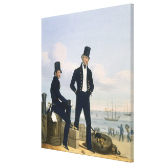 Gunners, Boatswains and Carpenters, plate 11 from Stretched Canvas Print