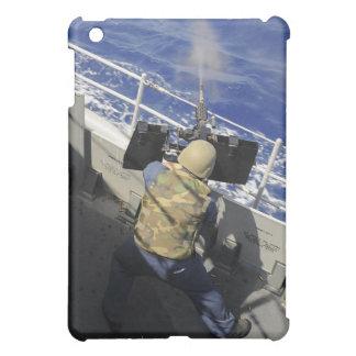Gunners Mate firing a 50 caliber machine gun iPad Mini Cases