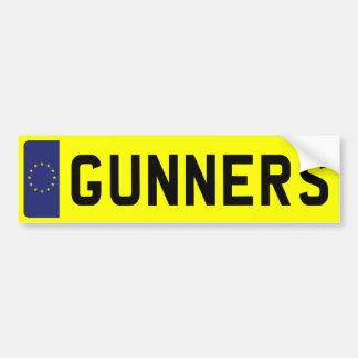 GUNNERS Number Plate Bumper Sticker