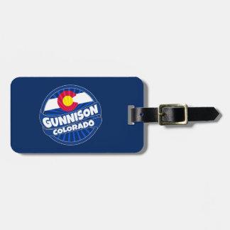 Gunnison Colorado flag burst luggage tag