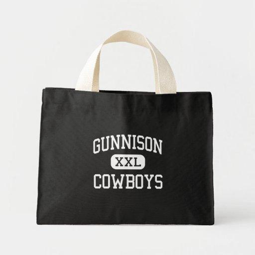 Gunnison - vaqueros - alto - Gunnison Colorado Bolsa Lienzo