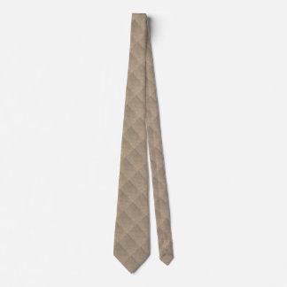 Gunny sack background neck tie
