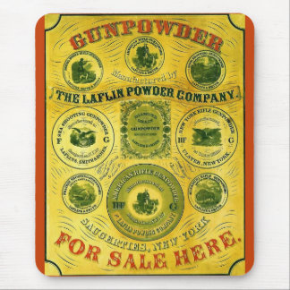 Gunpowder For Sale Here ~ Vintage Advertising Mouse Pad