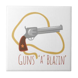 Guns a Blazin Tile