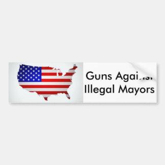 Guns Against Illegal Mayors - Bumper Sticker
