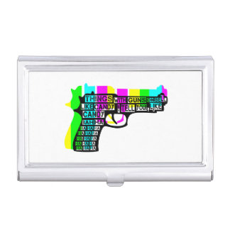 Guns and Candy Business Card Cases