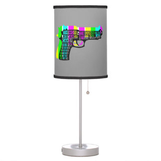 Guns and Candy Desk Lamps
