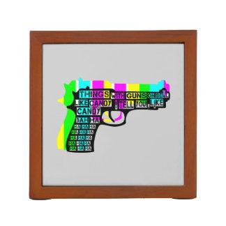 Guns and Candy Desk Organizer