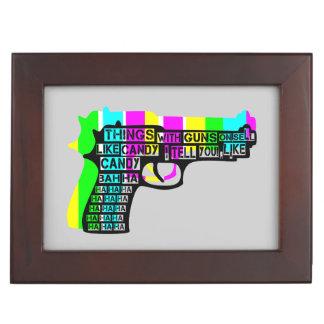 Guns and Candy Keepsake Boxes