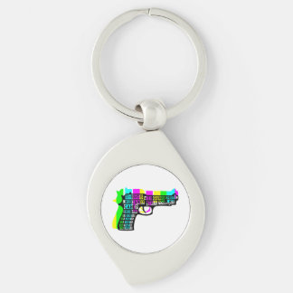 Guns and Candy Keychain