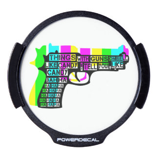 Guns and Candy LED Window Decal