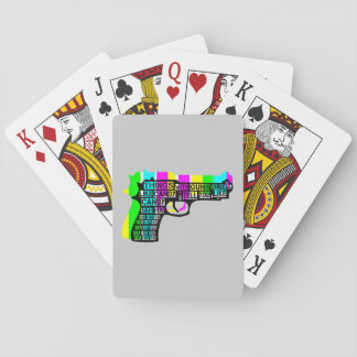 Guns and Candy Playing Cards