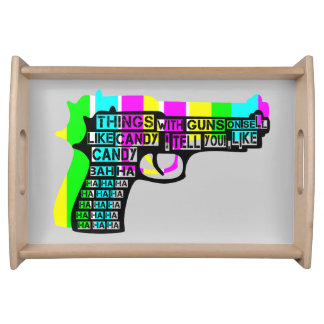 Guns and Candy Service Tray