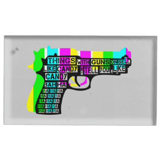 Guns and Candy Table Card Holder