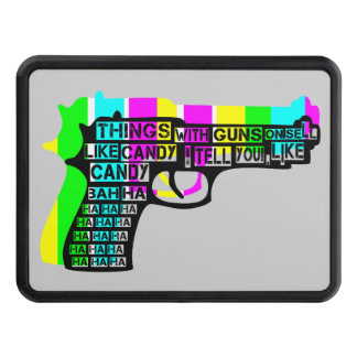 Guns and Candy Trailer Hitch Cover