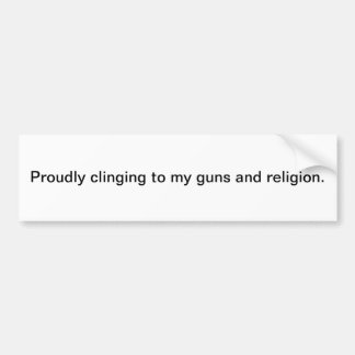 Guns and religion bumper sticker car bumper sticker