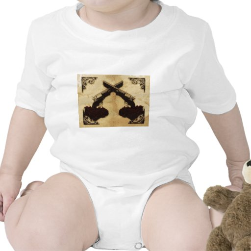 Guns and Roses Baby Bodysuits