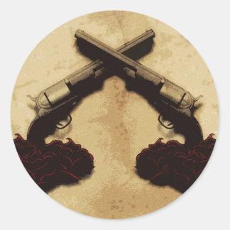 Guns and Roses Classic Round Sticker