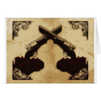 Guns and Roses Greeting Card