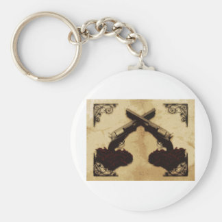 Guns and Roses Key Chains