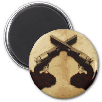 Guns and Roses Magnet