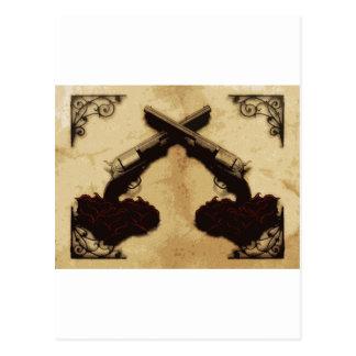 Guns and Roses Postcard