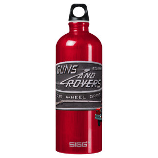 Guns and Rovers Red Rover Aluminum Water Bottle