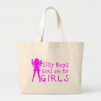 GUNS ARE FOR GIRLS TOTE BAG