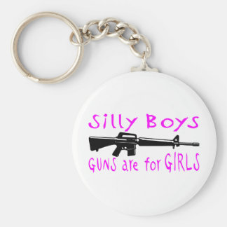 GUNS ARE FOR GIRLS KEY CHAINS