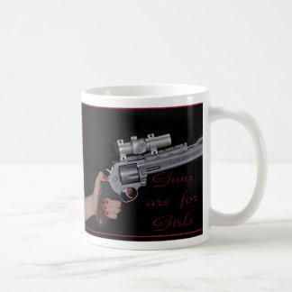 guns are for girls mug 4 b