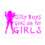 GUNS ARE FOR GIRLS POST CARDS