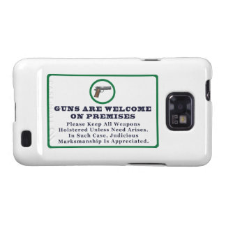 Guns Are Welcome On Premises Sign Samsung Galaxy SII Cases