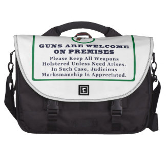 Guns Are Welcome On Premises Sign Commuter Bag