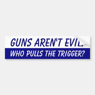 Guns aren't Evil Bumper Sticker