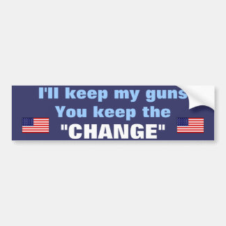 guns bumper sticker