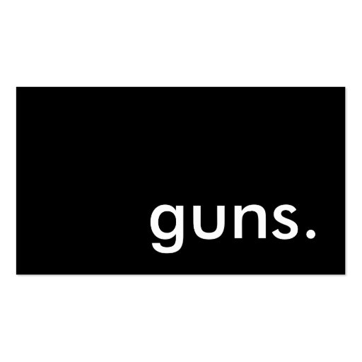 guns. Double-Sided standard business cards (Pack of 100)