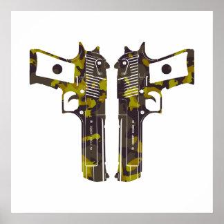 guns camo 2 poster