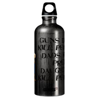 Guns Don't Kill, Dadism Aluminum Water Bottle